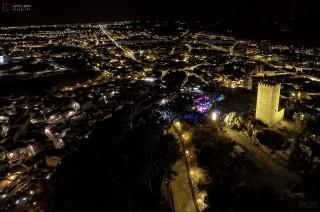 Concierto de Celtas Cortos en la fortaleza (Imagen aerea)