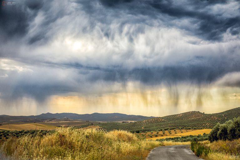 Impresionante cielo y cortinas de precipitaci n en alcal - San carlos cortinas ...