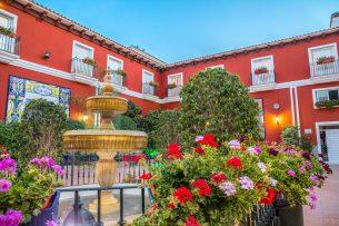 Patio del Hotel Romerito (Málaga)